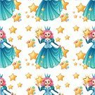 Women,Imagination,Computer Graphic,Clip Art,Vector,Image,Cute,Fantasy,Repetition,Pattern,Backgrounds,Royalty,Fairy Tale,Elegance,Seamless