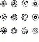 Flower,Symbol,Sparse,Simplicity,Computer Icon,Illusion,Icon Set,Black And White,Floral Pattern,Design,Collection,Vector,Group of Objects,Set,Digitally Generated Image,Reflection,Ilustration,White Background,Nature Abstract,Nature,Flowers