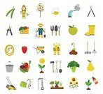 Wheelbarrow,Equipment,Agriculture,Illustration,Rake,Farm,Vegetable,Collection,Growth,Shovel,Seed,Gardening,Fruit,Watering Can,Formal Garden,Computer Icon,Flower Pot,Work Tool,Set,Vegetable Garden