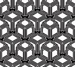 Mosaic,Symbol,Geometric Shape,Modern,Pattern,Striped,Creativity,Symmetry,Computer Graphic,Ornate,Grayscale,Black And White,White,Decoration,Design,Gray,Black Color,Shape,Abstract,Cube Shape,Contrasts,Seamless,Illustration,Composition,Continuity,Vector,Eternity,Illusion
