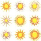 Sun,Sunlight,Symbol,Vector,Summer,Computer Icon,Sunbeam,Ilustration,Weather,Shiny,Yellow,Orange Color,Design Element,Illustrations And Vector Art