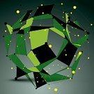Multi Colored,Illustration,Technology,Facet,Geometric Shape,Design Element,Fractal,Shape,Wire Mesh,Green Color,Backdrop,Modern,Complexity,Futuristic,Backgrounds,Engineer,Form,Computer Graphic,Lattice,Wire Frame,Single Object,Design,Abstract,Internet,Deformed,Asymmetry,Three-dimensional Shape,Vector