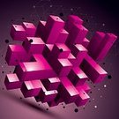 Multi Colored,Illustration,Technology,Facet,Geometric Shape,Design Element,Fractal,Shape,Lattice,Cube Shape,Computer Graphic,Modern,Complexity,Futuristic,Backgrounds,Backdrop,Form,Wire Mesh,Wire Frame,Purple,Single Object,Design,Abstract,Internet,Deformed,Asymmetry,Three-dimensional Shape,Vector