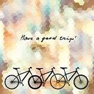 Have A Good Trip,Exploration,Motion,No People,Wheel,Engraved Image,Summer,Illustration,Bicycle,Bus,Curve,Vector