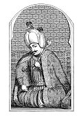 Art,Classical Style,Role Model,Governor,Old Print,Statesman,Mecca,Islam,Engraved Image,Al Madinah,White,Style,Adulation,Turkish Culture,Old-fashioned,Etching,renowned,Illustration,Formalwear,Ruler,History,century,Image Created 16th Century,Turkey - Middle East,Xvi Century,Sultan,Black Color,Ottoman Empire,The Human Body,Engraving,Cultures,Antique,Art Product,Monoprint,Drawing - Art Product,Fame,The Past,Portrait