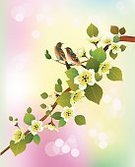 Chinese Culture,Leaf,Happiness,Pink Color,China - East Asia,Nature,Japan,Blossom,Revival,Red,Springtime,Style,Cultures,Paint,Wind,Vector,Branch,Beauty In Nature,Design,Painted Image,Japanese Culture,Postcard,Reflection,Ink,Freedom,Love,Illustration,Tree,Flower,Bird,Cherry,Cherry Blossom