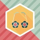 Birthday,Summer,Fun,Cute,Arranging,Illustration,Vector,Personal Accessory,Eyewear,Costume,Pink Color,Pattern,Dressing Up