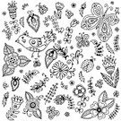 Flower,Femininity,Black Color,Decoration,Funky,Rose - Flower,Tile,Curtain,Textile,Modern,Ornate,Branch,Cartoon,Painted Image,Flourish,Illustration,Backdrop,Vegetable Garden,Wrapping Paper,Butterfly - Insect,Design Element,Greeting Card,Paint,Decor,Leaf,White,Springtime,Petal,Gift,Repetition,Scenics,Romance,Pattern,Document,Textured Effect,Tropical Climate,Doodle,Retro Styled,Elegance