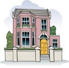 House,Victorian Style,Victorian Architecture,Home Interior,English Culture,England,Street,Residential Structure,Edwardian Style,Suburb,Brick,Styles,Residential District,Urban Scene,Family,Homes,Architecture And Buildings,City Life,Red,Illustrations And Vector Art