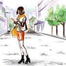Beauty,Paintings,Art,Illustration,One Person,Playing Cards,People Traveling,Street,Cute,Old-fashioned,Sketch,Shopping,Hipster,Creativity,Human Hand,Doodle,Urban Skyline,Autumn,Cityscape,Girls,Drawing - Art Product,Mobile Phone,Caucasian Ethnicity,Style,Sale,Tourism,Tourist,Modern,Relaxation,Telephone,Painted Image,Travel,Image,Greeting Card,Poster,Young Adult,Watercolor Paints,Women,Leisure Activity,City,Urban Scene,Watercolor Painting,Design,Paper,White,Textured Effect,Standing,Springtime,City Life,Sparse,Pattern,Fashion,Characters,Elegance,Architecture,Europe