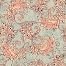 Craft,Old-fashioned,Backgrounds,Decoration,Vector,Seamless,Pattern,Floral Pattern