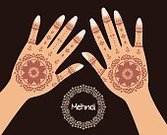 Hinduism,Women,Fashion,Decoration,Cultures,The Human Body,Illustration,Palm,Pattern,Ornate,Multi Colored,Make-up,Creativity,Ethnic,Vector,Henna Tattoo,Human Hand