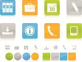 Computer Icon,Symbol,Icon Set,Business,Data,Empty,Calendar,Green Color,File,Internet,Telephone,Orange Color,Downloading,Interface Icons,Shiny,Design,Computer Graphic,Elegance,Felt Tip Pen,Palmtop,Gray,Vector,Blue,Ring Binder,Personal Data Assistant,Digitally Generated Image,Design Element,Briefcase,Office Supply,White Background,Multi Colored