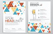 Flyer,Business,Triangle Shape,template,Vector,Brochure,advertise,Decoration,Abstract