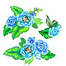 Square,No People,Multi Colored,Mexican Culture,Illustration,Leaf,Botany,Rose - Flower