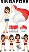 Flag,Ethnicity,Women,Activity,Sport,Collection,Single Object,Fun,Cutting,Cycling,Image,Part Of A Series,Vector,Backgrounds,Clip Art,Dumpbell,Singapore,Computer Graphic,Bicycle
