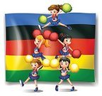 Women,Cheering,Pom-Pom,Computer Graphic,Clip Art,Cute,Image,Backgrounds,Cheerleader,Symbol,Action,Single Object,Vector,Fun,Sport,Flag,Activity,Cutting