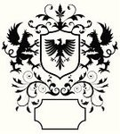 Eagle - Bird,Griffin,Insignia,Vector,Coat Of Arms,Shield,heraldic,Nobility,Old-fashioned,Medieval,Retro Revival,Ilustration,Black Color,Victorian Architecture,Design Element,Gothic Style,Decoration,Victorian Style,Ornate,Scroll Shape,Swirl,1940-1980 Retro-Styled Imagery,Isolated,No People,Obsolete,Illustrations And Vector Art,Vector Ornaments,Black And White,Back Lit,Isolated On White,Fluer De Lys,Antique,Symmetry,Banner