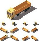 268360,Tipper,Tractor,Amintas,Exercising,Car,Collection,Exercise Machine,Industry,Agricultural Machinery,Illustration,Icon Set,Infographic,Business Finance and Industry,Transportation,Trucking,Semi-Truck,Low-Poly-Modelling,Container,Isometric Projection,Tire,Cargo Container,Freight Transportation,Land Vehicle,Commercial Land Vehicle,Lifestyles,Vector,Truck,Side View,Carrying,Yellow