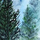 Nature,Illustration,Forest,Tree,Art,Watercolor Painting,Painted Image,Watercolor Paints