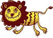 Animal,Vector,Illustration,Cartoon,Isolated,Animals In The Wild,Characters,Lion - Feline,Speed,Animals Hunting,Fang,Sketch,Feline,Computer Graphic,Africa,Zoo,Jumping,Clip Art,Animal Teeth,Smiling,Cute,Playful,Carnivore,Running,Cheerful,Mammal,King - Royal Person,Art,Fun,Image