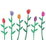No People,Drawing - Art Product,Flower,Tulip,Illustration,Vector