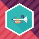 Technology,Shape,Illustration,Jazz Music,Internet,Symbol,Vector,Trumpet,Sign,Blowing