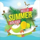 summer pattern,Exploration,Heat - Temperature,Coconut Palm Tree,Palm Tree,Outdoors,Sea,Summer,Hello,Illustration,Nature,Postcard,Island,Inviting,Invitation,Backdrop,Fruit,Welcome,Decoration,Season,Backgrounds,Beach,Holiday,Typescript,Tree,Lifestyles,Fun,Vector,,Vacations