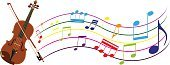 music staff,Michigan,Musical Instrument,Classical Style,String Instrument,Orchestra,Violin,Music,Sheet Music,Illustration,Vector,Violinist,Classical Music,Musical Instrument String,Arts Culture and Entertainment,Instrumental,Blue,Brown,Green Color,Orange Color,Pink Color,Purple,Red,White Color,Yellow,Multi Colored
