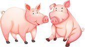 Clip Art,Computer Graphic,Cute,Backgrounds,Image,Vector,Pork,Livestock,Pig,Wildlife,Single Object,Animal,Nature,Mammal,Lifestyles,Cutting
