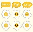 Horizontal,Characters,Anthropomorphic Smiley Face,Egg,Emoticon,Cartoon,Cheerful,Illustration,Food,Happiness,Flat,Fried,Flat Design,Character,Fried Egg,Animal Egg,Smiley Face,Vector,Smiling,Facial Expression