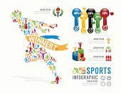 Infographic,Soccer,Running,Label,Flat,Abstract,Gymnastics,Soccer Ball,Winning,Canoeing,Graph,Sign,Activity,Basketball - Ball,Symbol,Water Polo,Vector,Collection,Sport,Goal,Healthy Lifestyle,Boxing,Computer Graphic,Illustration,Data,Inspiration,Ideas,People,Backgrounds,Athlete,Information Medium,Medal,Weightlifting,Bicycle,Men,Volleyball - Ball,Tennis,Badminton,Swimming,Chart