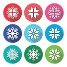 Cold Temperature,No People,Christmas,Winter,Snow,Snowflake,Illustration,Pattern