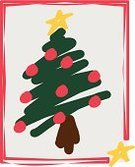 Christmas Tree,Christmas,Tree,Frame,Drawing - Art Product,Green Color,Color Image,Vector,Ilustration,Christmas Ornament,Christmas Decoration,No People,Illustrations And Vector Art,Pine Tree,Time,Concepts And Ideas,Nature,Winter,Decoration,Red,Yellow,Star Shape