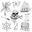 268399,Weapon,Nautical Vessel,Coin,Flag,Sailing,Human Skull,Design,Drawing - Art Product,Navigational Compass,Old-fashioned,Gold,Wood - Material,Tree,Palm Tree,Island,Sea,Caribbean Sea,Skull and Crossbones,Caribbean Culture,Treasure Chest,Sword,Illustration,Antique,Rum,Vector,Passenger Ship,Collection,Pirate - Criminal,Ship,Sabre - Sword,Pattern,Gold Colored,Design Element