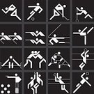 Weightlifting,Icon Set,Taking A Shot - Sport,People,Design Element,Competitive Sport,Winter Olympic Games,Computer Icon,Sport Rowing,Target Shooting,Soccer,Sports Race,The Olympic Games,Sport,Field Hockey,Basketball - Sport,Track And Field,Athlete,Silhouette,Competition,Black Color,Exercising,Symbol,Volleyball - Sport,Martial Arts,Sailing,Taekwondo,Judo,Wrestling,Summer Olympic Games