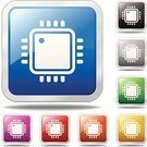 Computer Chip,Semiconductor,Symbol,CPU,Computer Icon,Computer,Push Button,Religious Icon,Metal,Technology,Vector,Silhouette,Clip Art,Blue,Black Color,Green Color,Stainless Steel,No People,Vector Icons,Silver Colored,Gray,Red,Aluminum,White,Yellow,Orange Color,Isolated On White,Illustrations And Vector Art,Purple,Silver - Metal