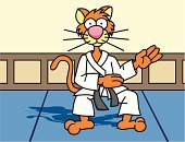 Judo,Karate,Martial Arts,Cartoon,Animal,Dojo,Domestic Cat,kata,Sports And Fitness,Cats,Individual Sports,Animals And Pets,Feline,Whisker,Tail,Kitten