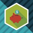 Business,Symbol,Single Object,Wealth,Banking,Finance,Currency,Vector,Coin,Illustration,Pig