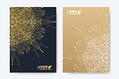 No People,Gold Colored,Illustration,Data,Communication,Brochure,Backgrounds,Spotted