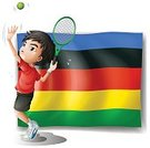 Computer Graphic,Symbol,Clip Art,Backgrounds,Vector,Image,Flag,Racket,Fun,Single Object,Sport,Activity,Tennis,Cutting