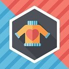 Fashion,Closet,Textile,Clothing,Heart Sweater,Vector,Heart Shape,Illustration