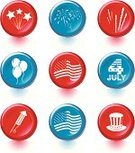 Firework Display,Pyrotechnics,Fourth of July,Symbol,Sparkler,Rocket,Computer Icon,Interface Icons,Flag,Patriotism,American Culture,Icon Set,Traditional Festival,USA,Vector,Ilustration,Circle,Top Hat,Balloon,American Flag,Celebration,Striped,Star Shape,National Flag,Hat,independence-day,National Holiday