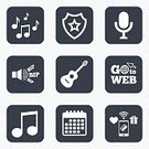 Shape,Token,Label,Symbol,Badge,Application Software,Paying,Calendar,Vector,Sign,Singing,Microphone,Wireless Technology,Pager,Musician,Karaoke,Composition,Event,Singer,Guitar