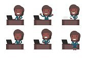 Business,Office,Vector,Working,Illustration,Occupation,Women,Laptop,Suit,Teamwork,Cute,Positive Emotion,Happiness,Desk,Characters,Smiling,Computer,Aspirations,Set,Caucasian Ethnicity,Businesswoman,African Ethnicity,Afro,People,Cartoon,Female Animal,Ideas,Concepts,Design