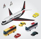Group of Objects,Backgrounds,Multi Colored,Set,Bus,Transportation,Illustration,Vacations,Yellow,Isometric,Black Color,Ideas,Holiday,People,Vector,Airplane,Collection,Traffic,Concepts,Red,Land Vehicle,White,Travel Destinations,Travel,Exploration,Bicycle,Tourist,People Traveling,Isolated,Journey,Car