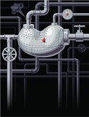 Kidney,Pipe - Tube,Water Pipe,Healthcare And Medicine,Faucet,Pipeline,Sewer,Connection,Symbol,Ilustration,Industry,Blood,Vector,Rivet - Work Tool,Metal,Steel,Backgrounds,Ideas,Technology,Drop,Equipment,Striped,Design,Steam,Bolt,Painted Image,manometer,Cross Shape,Iron - Metal,Blank,Single Object,Copy Space,eps8