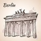 hand drawn,Ink,Pen,Sketch,Capital Cities,Arranging,Famous Place,Travel,Business Travel,Isolated,Paint,Grunge,Outdoors,Contour Drawing,Travel Destinations,Silhouette,Berlin,Gate,Germany,Urban Scene,City,Drawing - Art Product,Pencil Drawing,City Life,Illustration,Cultures,Brandenburg Gate,Built Structure,Europe,Building Exterior,Tourism,Vector,Outline,People Traveling