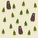 Repetition,No People,Computer Graphics,Nature,Animal,Animal Markings,Bear,Mountain,Forest,Decoration,Backgrounds,Computer Graphic,Cute,Illustration,Vector,Background,Seamless Pattern,Blue,Pattern