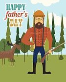 Banner,Cards,Illustration,Banner - Sign,Happiness,Parent,Father,Vector,Greeting,Beard